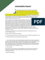 Sustainablity Report, semua tentangnya~~~~
