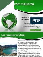 Clasificacion de los recursos tursticos