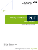 Clomiphene Citrate Therapy - NHS