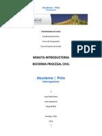 Minuta Reforma Procesal Civil