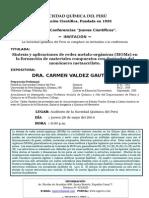 Afiche Conferencia Dra. Carmen Valdez Gauthier 28.05.15