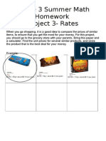 grade 3 summer homework rates
