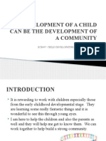 development of a child can be the development