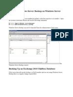 Installing Windows Server Backup on Windows Server 2008 R2