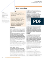 Urinary Drug Screening