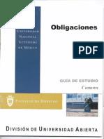 Derecho Obligaciones 4 Semestre UNAM SUA FACULTAD DE DERECHO