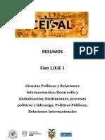 EJE 1 - Ciencias Políticas y Relaciones Internacionales.pdf; Desarrollo y Globalización....pdf
