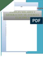 Paneles Solares y Generacion de Energía Electrica 1