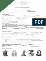 0 Test de Evaluare Istorie