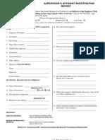 Supervisors Accident Investigation Report