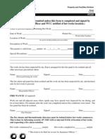 Hot Work Permit Form