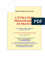 Evolution Pedagogique en France 1