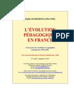 Evolution Pedagogique en France 1