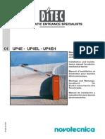 Manual Barrera Ditec UP4