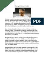 Biography Cristian Ronaldo