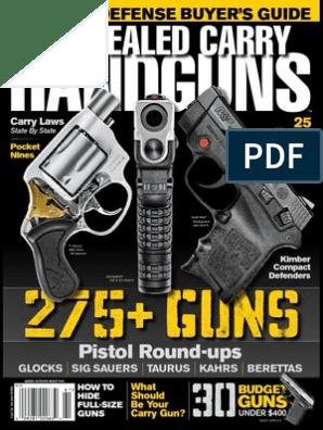 Concealed Carry Handguns - 2015 USA | Handgun | Projectile