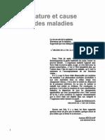 Bousquet Jacqueline - Nature Et Cause Des Maladies