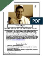 Teacher Ryan Introduction Letter 1516