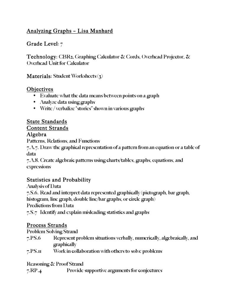 Lisa Manhard Graph Theory National Council Of Teachers Of
