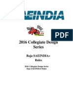 2016 Baja SAE India Rulebook