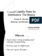 Products Liability Risks for Distributors