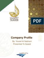 Company Profile - Taaeen 2015 PDF
