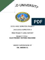 Project on Evm Main