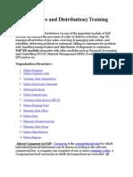 SAP SD (Sales and Distribution)