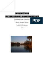Endodontic Simulation Manual LSU January 2015 .docx