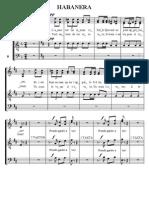 Хабанера, хоровая партитура