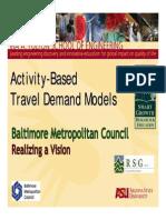 Activity Based Microsimulation Models