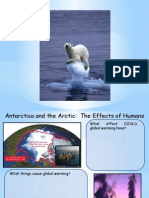 antartica and arctic worksheets - the effects of humans