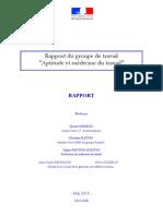Médecine Du Travail - Rapport Issindou