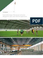 luminaires designed for sport applications
