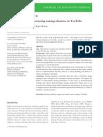 Journal of Advanced Nursing Volume 68 Issue 8 2012 [Doi 10.1111%2Fj.1365-2648.2011.05872.x] Jacinta Kelly; Gerard M. Fealy; Roger Watson -- The Image of You- Constructing Nursing Identities in YouTube