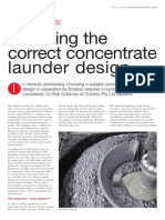 Selecting the Correct Concentrate Launder Design