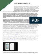 Caracteristicas Tecnicas Del Nuevo IPhone 4S