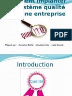 comment implanter un systeme   qualité dans une entreprise .pptx