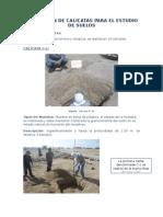 Excavación de Calicatas cerco universitario