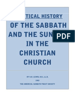 A Critical History of Sabbath and Sunday