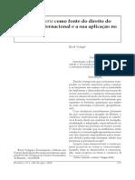 A Lex mercatoria como fonte do direito do comércio internacional e a sua aplicação no Brasil