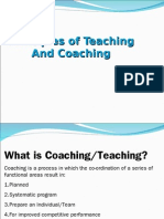 Principles of Teaching and Coaching