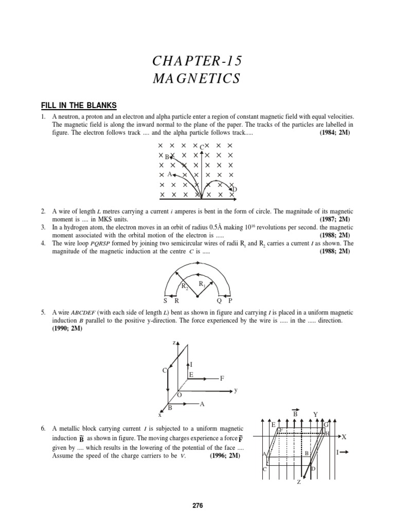 Chapter - 15_Magnetics | Magnetic Field | Force