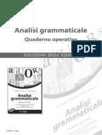 Soluzioni analisi Grammaticale