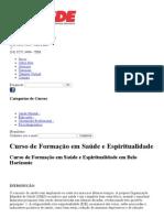 Curso de Formação Em Saúde e Espiritualidade Belo Horizonte _ CESDE - Centro de Estudos e Desenvolvimento Educacional