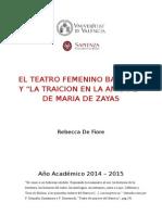 """""""La traiciòn de la amistad"""" de Marìa de Zayas"""
