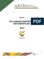 Manual Juegos Escolares Venezuela 2014