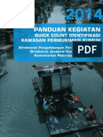 Buku Panduan Quick Count Identifikasi Kawasan Permukiman Kumuh DJCK 2014