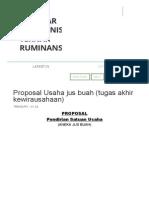 Proposal Usaha Jus Buah (Tugas Akhir Kewirausahaan) _ Seputar Agribisnis Ternak Ruminansia