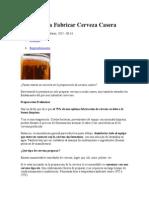 5 Pasos Para Fabricar Cerveza Casera